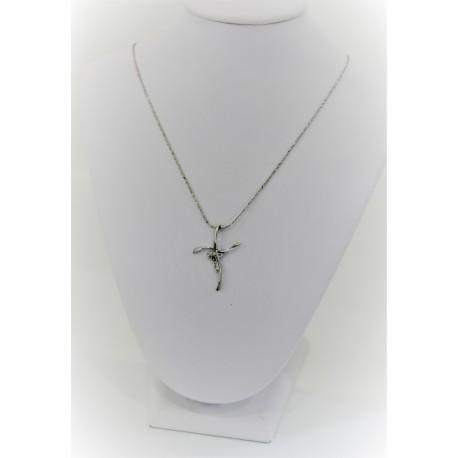 Halskette weißgold und Diamanten