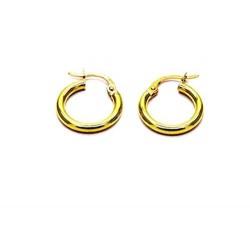 Boucles d'oreilles perles d'or jaune