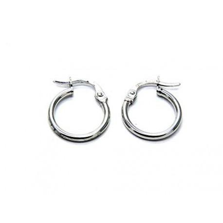 earrings circle gold white