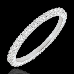 Ring Ring, white gold 18 kt and cubic zirconia white finish and elegant