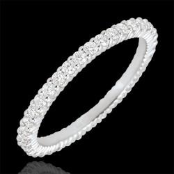 Ring Veretta weißgold 18 kt und weißen zirkonia, fein und elegant