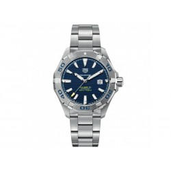 Tag Heuer Aquaracer automatic watch in steel with blue dial