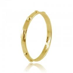Кольцо четки, желтое золото 18 kt, 1,5 гр
