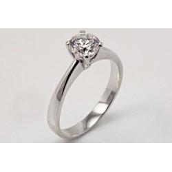 anello solitario oro bianco 18 kt 0,80 ct