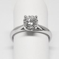 Solitario con diamante di 0,90 carati