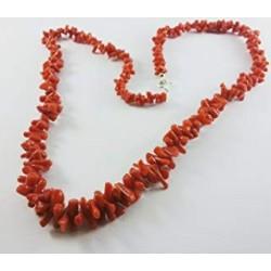 Collana di corallo rosso da donna