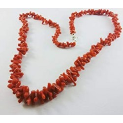 Necklace of red coral women's