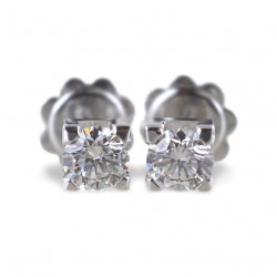 Large Point light earrings in gold and 0.90 carat diamonds