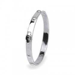 anello rosario oro bianco A1984B