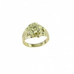 anello testa di leone in oro giallo A2355G