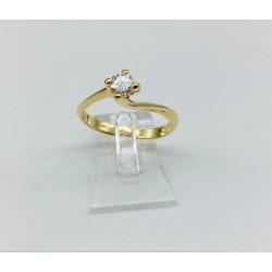 anello solitario modello valentino in oro giallo 198 kt A2408G