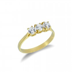 anello trilogy in oro giallo 18 kt A2409G