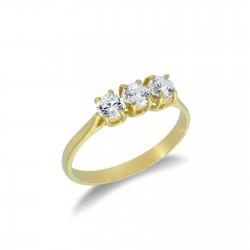 anello trilogy in oro giallo 18 kt A2410G