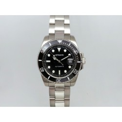 Watch Hermann Watch Dial Gmt stainless Steel Black automatic