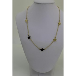 Necklace Star sterling silver 925 golden color with stars