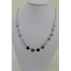 Collier Star en argent sterling 925, de couleur argent avec des étoiles
