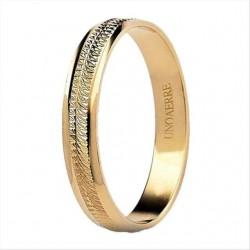 fedina dalia unoaerre diamantata a righe orizzontali oro giallo 18 kt