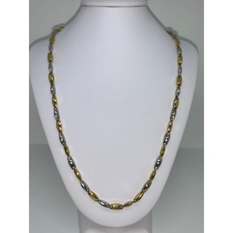 collier-homme-blanc-or-jaune 18 kt 00127