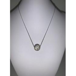 Цепочка из белого золота с шар и лист