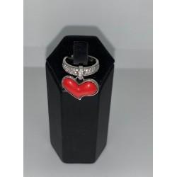 anello in argento con cuore