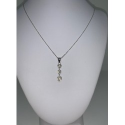 chain white gold 18 kt and cubic zirconia
