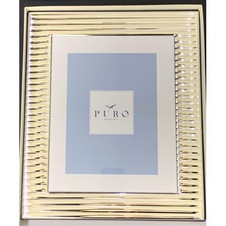 Frame in silver 925 ribbed