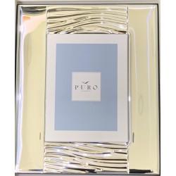 Cornice in argento 925 semi liscia