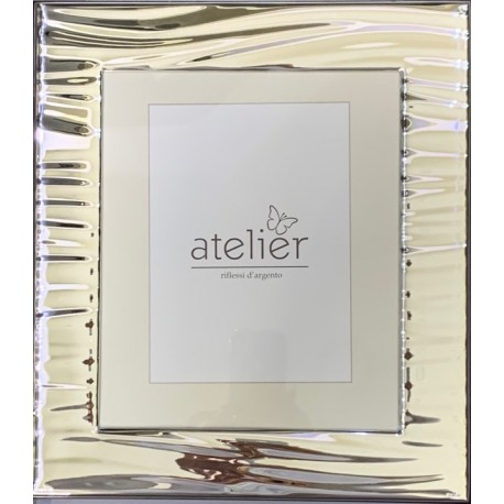 frame in silver 925 striped