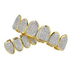 Зубные протезы Американский Рэпер Покрытием желтое золото 18 kt