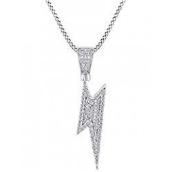 necklace lightning bolt-metal