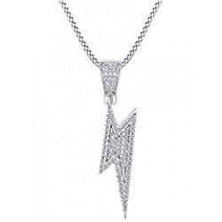 necklace lightning bolt-metal