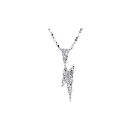 collier éclair en métal