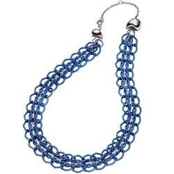 ожерелье breil синий Rockmantic
