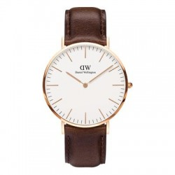 Daniel Wellington Watch Rose Gold Watch Leather Strap 40mm DW00100009