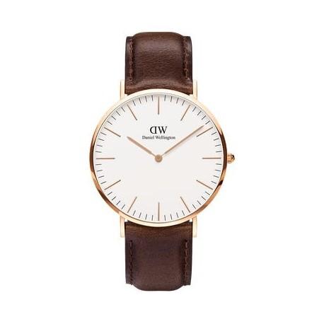Daniel Wellington Uhr Roségold Uhr Lederarmband 40mm DW00100009
