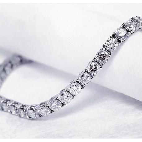 Bracciale Tennis in argento 925 con zirconi bianchi raffinato ed elegante